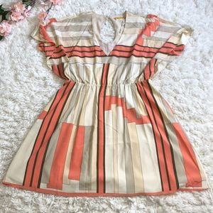 Alice + Olivia silk butterfly sleeve print dress